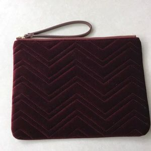 VELVET maroon large clutch